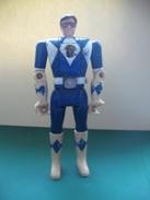 017 - Figurine - Power Rangers Bleu Articulé - Mécanisme à Deux Têtes - Power Rangers