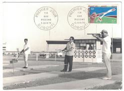 AFARS ET ISSAS / DJIBOUTI - PEU COURANTE CARTE MAXIMUM Du TIR AUX PIGEONS DE 1970 AVEC TIMBRE N° 361 - Afar- En Issaland (1967-1977)