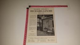 CO-6748 MILANO SOCIETÀ CERAMICA RICHARD GINORI ILLUSTRATA PUBBLICITÀ - Vieux Papiers