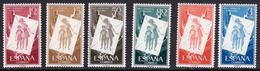España 1956. Pro Infancia Hungara. Ed 1200 / 1205. MNH. **. - 1931-Hoy: 2ª República - ... Juan Carlos I