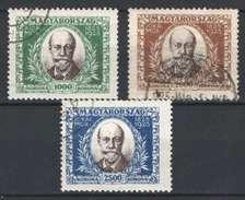 Hungary 1925. Mor Jokai Nice Set Used - Michel: 398-400 - Hongrie