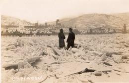 OBERWESEL HIVER 1929 LE RHIN GELEE CARTE PHOTO - Oberwesel