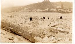 OBERWESEL HIVER 1929 LE RHIN GELEE CARTE PHOTO 1 E VUE - Oberwesel