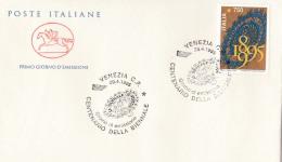 1995 ITALIA - 04 CENTENARIO DELLA BIENNALE - FDC CAVALLINO - ANNULLO VENEZIA C.P. - 6. 1946-.. Repubblica