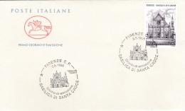1995 ITALIA - 05 BASILICA DI S. CROCE - FDC CAVALLINO - ANNULLO FIRENZE C.P. - 6. 1946-.. Repubblica
