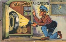Happy Burglar Opens Safe~A Hoarder!!~Flashlight Shines~Rationed WWII Tire~Moon - Non Classés