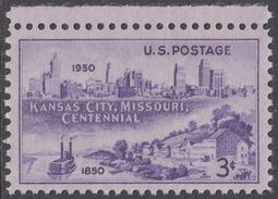 !a! USA Sc# 0994 MNH SINGLE W/ Top Margin - Kansas City, Missouri - United States