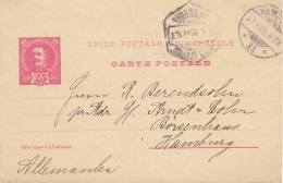 PORTUGAL 1905 - 25 Reis Ganzsache Auf Firmen-Pk Gel.n.Hamburg - Portugal