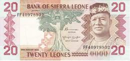 BILLETE DE SIERRA LEONA DE 20 LEONES DEL AÑO 1984 EN CALIDAD EBC (XF)    (BANKNOTE) - Sierra Leona