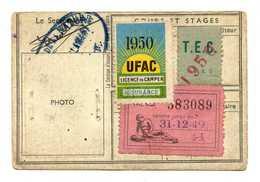 5 TIMBRES LICENCE DE CAMPEUR  *1948 *1949 *1950 - Commemorative Labels