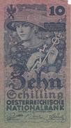 BILLETE DE AUSTRIA DE 10 SCHILLING DEL AÑO 1927 (BANKNOTE-BANK NOTE) RARO - Austria