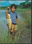 °°° 3587 - BRASIL - AMAZZONIA - UN PICCOLO PESCATORE TIKUNAS °°° - Manaus