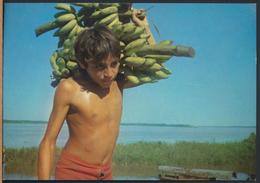 °°° 3588 - BRASIL - AMAZZONIA - RAGAZZO TIKUNAS CON BANANE °°° - Manaus