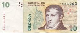 BILLETE DE ARGENTINA DE 10 PESOS DE MANUEL BELGRANO (BANKNOTE) - Argentina
