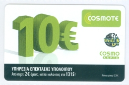 Greece Grèce  COSMOTE Prepaid 10 Euro - Greece