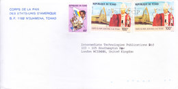 AMERICAN CONSULATE IN TCHAD COMMERCIAL COVER SENT TO UNITED KINGDOM - SLOGAN CANCELLATION ON UNIVERSAL POSTAL UNION, UPU - Chad (1960-...)