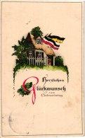 Karte Geburtstag Herzlichen Glückwunsch - Haus Mit Flaggen - Anniversaire