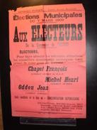 ELECTIONS AFFICHE  HAUTES ALPES VEYNES 1909 - Posters