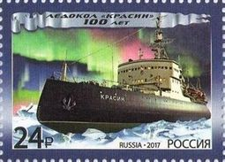 2017-2205 1v Russia Russland Russie Rusia Krasin Krassin Icebreaker. Ship Ships Northern Lights Mi 2428 MNH ** - Navi Polari E Rompighiaccio