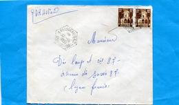 MARCOPHILIE-guerre D'algérie-Lettre  Avion -afft 20frs -cad Hexagonal Perlé-ERRAGUENE S A S -SP 86770--11°Cie - Poststempel (Briefe)