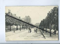 CPA - Melun  -  L'Avenue De La Gare  -   (Cachet Au Verso : Stocks De Céréales-Seine Et Marne) - Melun