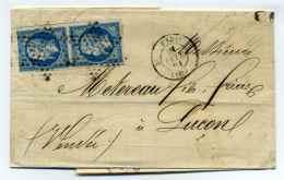 Etoile Pleine De PARIS + Cad PARIS 3°  / Dept 60 SEINE / Tarif Double Port / Février 1861 - Marcophilie (Lettres)