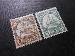 D.R.Mi 7/8  3/5Pf   Deutsche Kolonien (Samoa) 1900  Mi 2,60 - Colony: Samoa