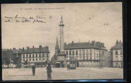 44 -- Nantes -- La Place Et La Colonne Louis XVI - Nantes