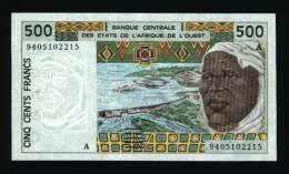 500 Francs COTE D´IVOIRE 1994 NEUF - UNC (lot N°:552-2) - Ivoorkust