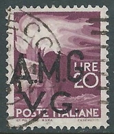 1945-47 TRIESTE AMG VG USATO DEMOCRATICA 20 LIRE - L4 - 7. Trieste