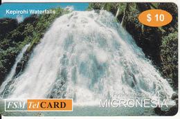 MICRONESIA - Kepirohi Waterfalls, FSM Tel Prepaid Card $10, Used