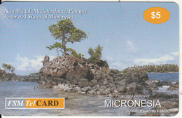MICRONESIA - Nan Madol, Madolenihmw, Pohnpei, FSM Tel Prepaid Card $5, Used