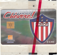 COLOMBIA(chip) - Junior FC/Emblem, Metrotel Telecard $5000, Mint - Colombia