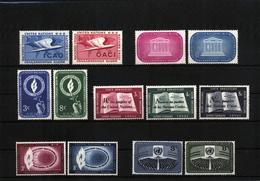UN / UNO Selection Of Sets 3 Postfrisch / MNH - New York - Sede De La Organización De Las NU