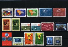 UN / UNO Selection Of Sets 7 Postfrisch / MNH - New York -  VN Hauptquartier