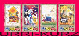 MOLDOVA 2001 Art Painting Children's Drawings International Child Day 4v Mi390-393 Sc378-381 MNH - Moldawien (Moldau)