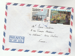 Air Mail RWANDA COVER Stamps  To France - Rwanda