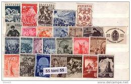 1942 COMPLETE  Yvert Nr- 395/419  – MNH ** BULGARIA /Bulgarie - Sellos