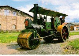 """63--AMBERT---rouleau Compresseur ALBARET--collection """"musée AGRIVAP""""--voir 2 Scans - Cartes Postales"""