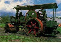 """63--AMBERT---rouleau Compresseur à Vapeur ALBARET-- """"musée AGRIVAP""""--voir 2 Scans - Cartes Postales"""
