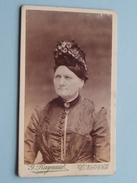 Femme - Vrouw - Woman ( CDV - Photo G. Raynaud Anvers ) See Photo For Details !! - Anonymous Persons