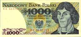 POLOGNE 1000 ZLOTYCH Du 1-6-1982  Pick 146c  UNC/NEUF - Pologne