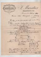 Fers Fontes Quincaillerie Muratier Beaune 1919  Bourgeois Morez Capitaine Laneyrie 408 ème D'Infanterie - 1914-18