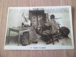 CPA Dos Divisé Robinet -Guillemont  Chateauroux  Scènes Du Berry N°21 Le Musicien Devant La Cheminée Neuve  Animée  B/TB - Bourges