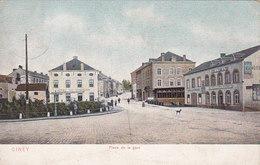 Ciney - Place De La Gare (animée, DTC, Dr Trenkler, Colorisée, 1907) - Ciney