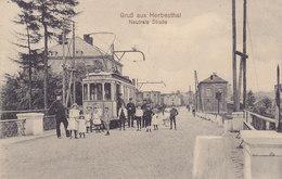 Gruss Aus Herbesthal - Neutrale Strasse (top Animation, Tram, Tramway, 1913, Joseph Poensgen) - Lontzen