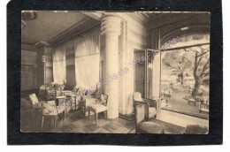 Cpa 06 Juan-les-Pins - Hôtel Belles-Rives - Le Salon Et Le Jardin (scans R/V) - Antibes