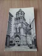 CPA Dos Divisé Editions LL     Poitiers  N° 6   Eglise Sainte Radegonde    Neuve  TB - Poitiers