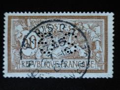 Timbre Oblitéré, N° 120 Merson - Perfins