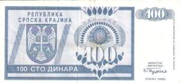 CROATIE   100 Dinara   1992   P. R3a - Croatie